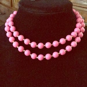 Jewelry - Genuine Pink lucite necklace Td#2